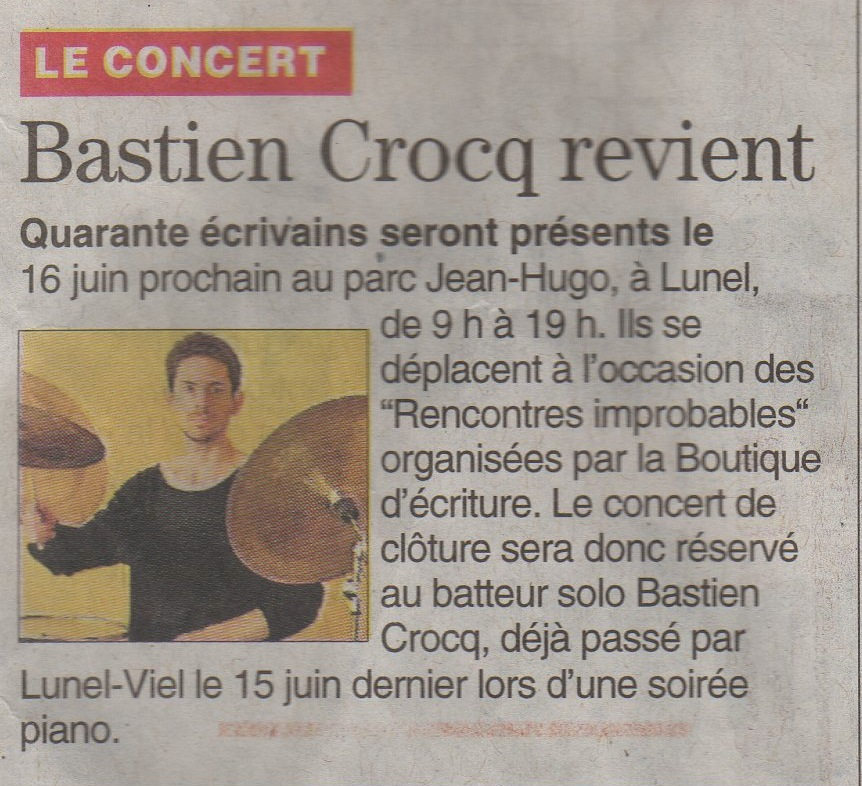 Article juin 2013 batterie solo