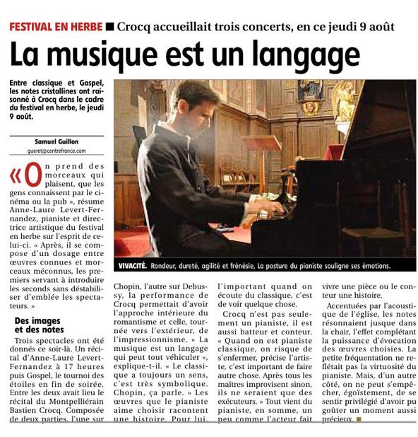 article Crocq août 2012